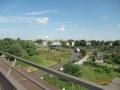 Blick von der Gaterwegbrücke auf die L 473