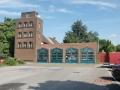 Gebäude und Vorplatz der Freiwilligen Feuerwehr Friemersheim